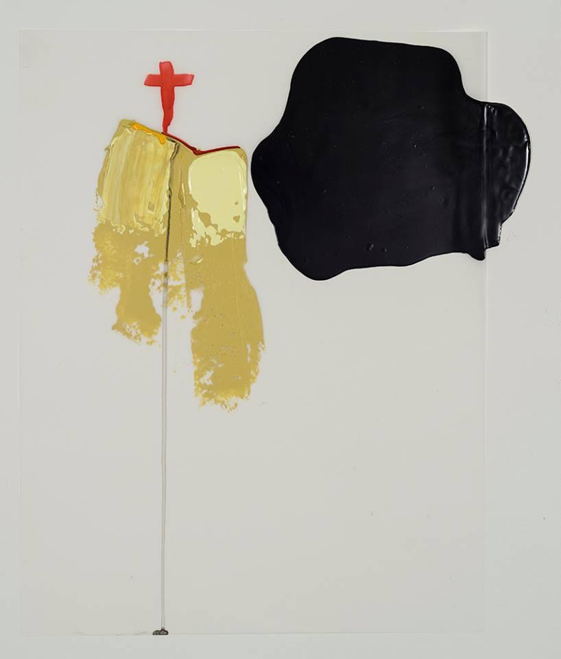 """PATRICE CHARBONNEAU St-Jérôme, 2015, Acrylique, encre et crayons sur papier d'Arches et mylar / Acrylic, ink and pencil on Arches paper and mylar, 76.2 x 55.9 cm / 30"""" x 22.5"""""""