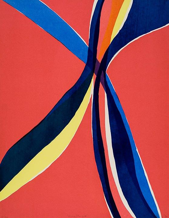 """Nancy Petry Kwigillingok, 1970 Sérigraphie / Serigraph – Édition: 20 + 2 A/P 66.41 x 26.625 cm / 26 3/8"""" x 26 5/8"""""""