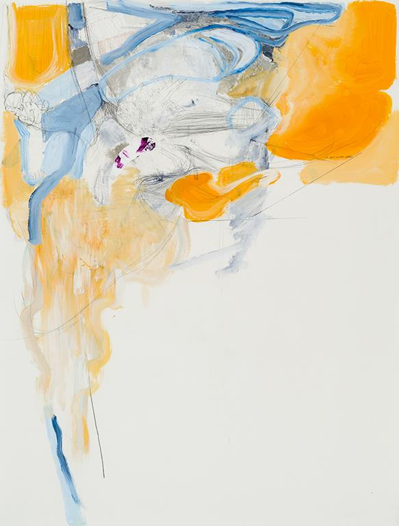 "MATTHEW CHOBERKA Plume, (Position Papers Series), 2010 Techniques mixtes sur papier / Mixed media on paper 127 x 96.52 cm / 50"" x 38""  (exposition bAdA 2016)"