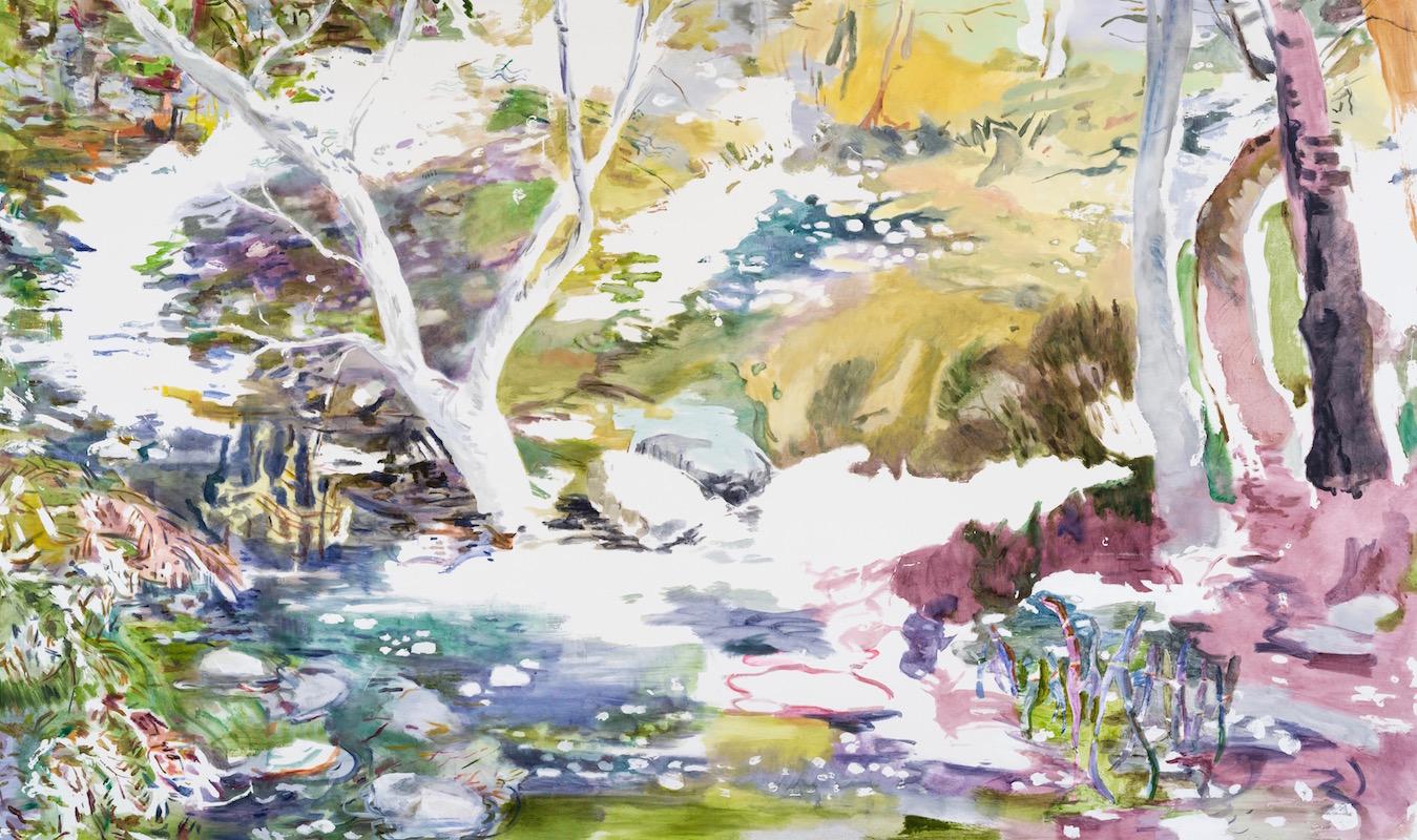 SUSAN G SCOTT Where Water Grows Still    2017, Huile sur toile | oil on canvas, 182.88 x 309.88 cm | 72″ x 122″ CAD, $18,430 (sans encadrement | unframed)