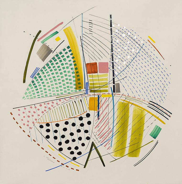 """Circumvolve,"" 2017 Acrylique sur toile | Acrylic on canvas, 105 x 105 cm / 42 x 42 ""  CDN $5,715 ( exposition Lorraine Pritchard | April 27 to May 27, 2017 )"
