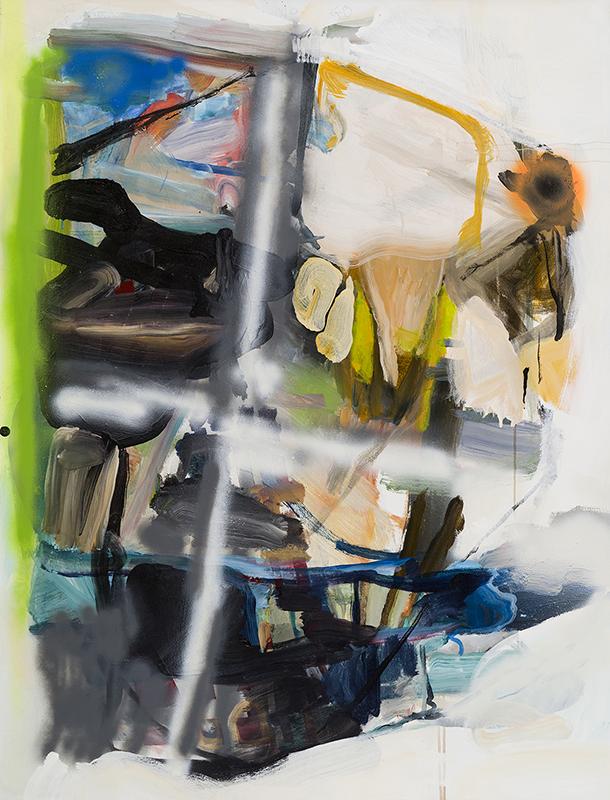 """IN BOUNDS, 2015  Acrylique sur toile / Acrylic on canvas  132.1 x 101.6 cm / 52"""" x 40""""  USD $4,685 (sans encadrement / unframed)"""