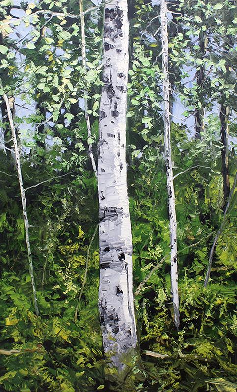 """IRON DOOR - SPRING #1,2010  Huile sur toile de lin / Oil on linen  177.8 x 106.7 cm / 70"""" x 42""""  USD $13,820 (avec encadrement / framed)"""