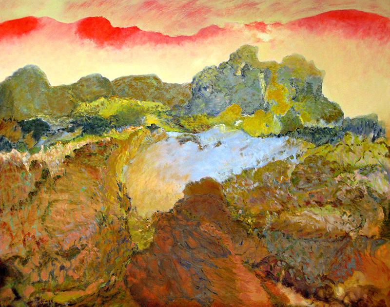 """LE TRAVAIL DE LA TERRE, 2008  Huile sur toile / Oil on canvas  101.6 × 127 cm / 40"""" × 50""""  CAD $5,640 (avec encadrement / framed)"""