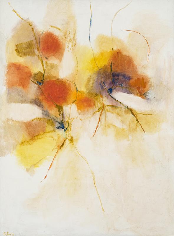 "FLY AWAY, 1967  Huile sur toile / Oil on canvas  124.5 x 91.4 cm / 49"" x 36""  CAD $10,020 (avec encadrement / framed)"