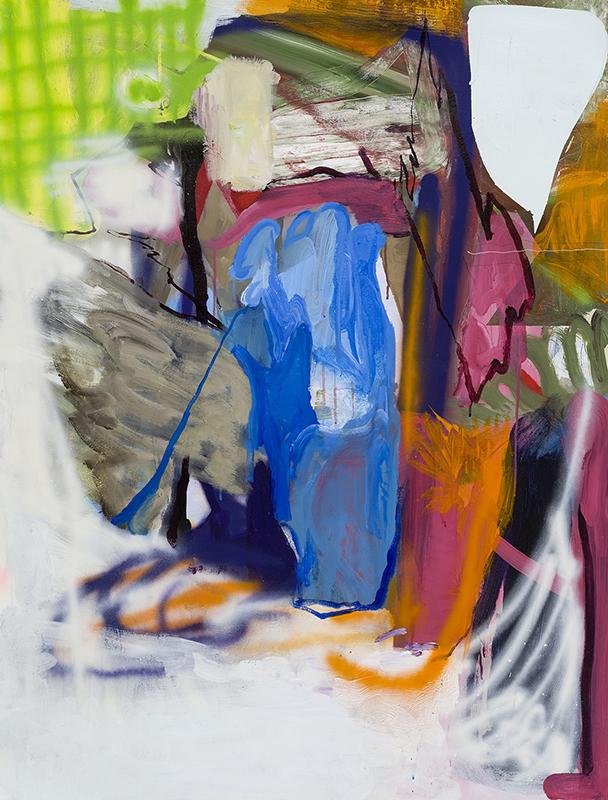 """ESSENTIAL OUTCOMES, 2015  Acrylique sur toile / Acrylic on canvas  132.1 x 101.6 cm / 52"""" x 40""""  USD $4,685 (sans encadrement / unframed)"""
