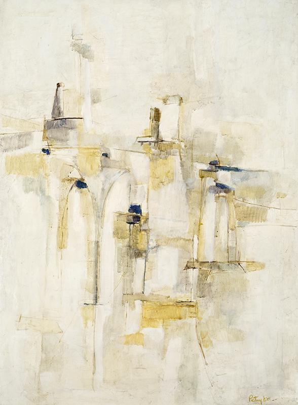 """VAGUE À L'ÂME II, 1962  Huile sur toile de lin / Oil on linen  96.5 x 71.1 cm / 38"""" x 28""""  CAD $7,130 (avec encadrement / framed)"""
