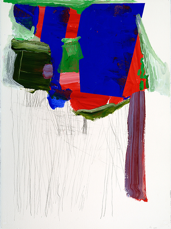 """THE BIG ONE, 2011  Acrylique, encre et graphite sur papier / Acrylic, ink and graphite on paper  76.2 x 55.9 cm / 30"""" x 22""""  USD $1,940 (avec encadrement / framed)"""