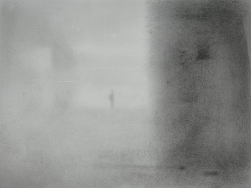 """MAN AND DARKNESS, 2010  Graphite sur papier / Graphite on paper  53.3 × 71.1 cm / 21"""" × 28""""  USD $3,600 (avec encadrement / framed)"""
