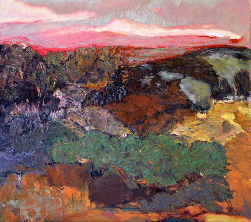 """LA MEMOIRE DES CHOSES, 2013  Huile sur toile / Oil on canvas  81.3 × 91.4 cm / 40"""" × 50""""  CAD $4,200 (avec encadrement / framed)"""
