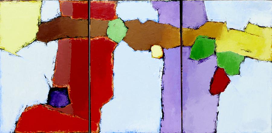 """2011/1-2-3, 2011  Acrylique sur toile / Acrylic on canvas  91.4 x 182.9 cm / 36"""" x 72""""  USD $8,430 (avec encadrement / framed)"""