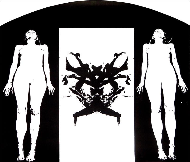 """GATEWAY, 2006  Encre sur papier / Ink on paper  53.3  x 61 cm / 21"""" x 24""""  USD $4,250 (avec encadrement / framed)"""