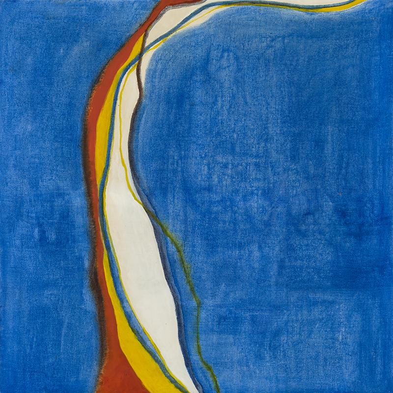 """SAGUENAY, 1969  Acrylique sur toile / Acrylic on canvas  128.9 x 128.3 cm / 50 ¾"""" x 50 ½""""  CAD $11,815 (avec encadrement / framed)"""