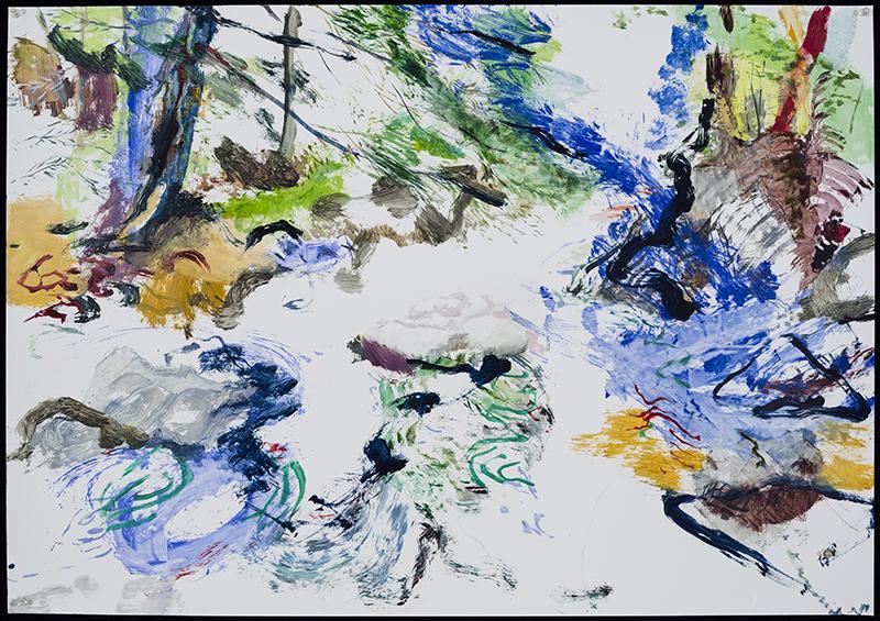 "NOTATIONS #7, 2014  Huile sur terraskin / Oil on Terraskin  71.1 x 101.6 cm / 28"" x 40""  CAD $5,100 (sans encadrement / unframed)"