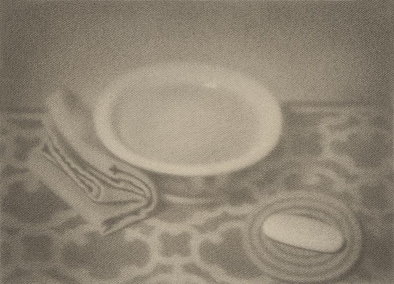 """SOAP AND WATER, 2014  Graphite sur papier / Graphite on paper  33 × 45.7 cm / 13"""" × 18""""  USD $2,335 (avec encadrement / framed)"""