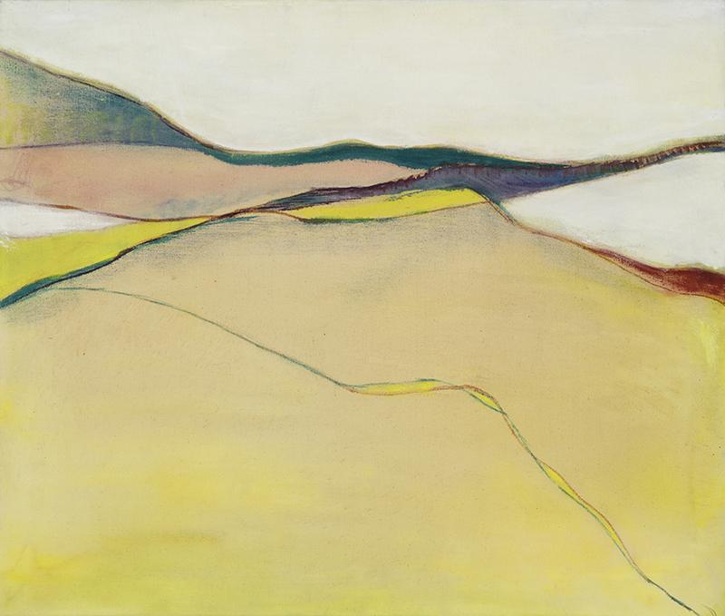 """INUVIK, 1968  Acrylique sur toile / Acrylic on canvas  64.8 x 76.8 cm / 25 ½"""" x 30 ¼""""  CAD $5,955 (avec encadrement / framed)"""