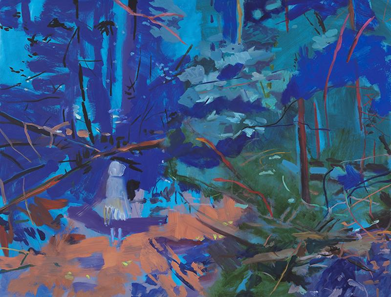 """NIGHT INCOMPLETE, 2011  Huile sur toile / Oil on canvas  147.32 x 193.04 cm / 58"""" x 76""""  CAD $12,730 (sans encadrement / unframed)"""