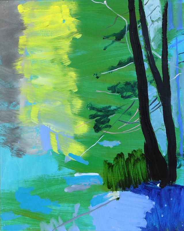 "PILLARS OF LIGHT AND DARK, 2013  Huile sur toile / Oil on canvas  63.5 x 50.8 cm / 25"" x 20""  CAD $4,050 (sans encadrement / unframed)"