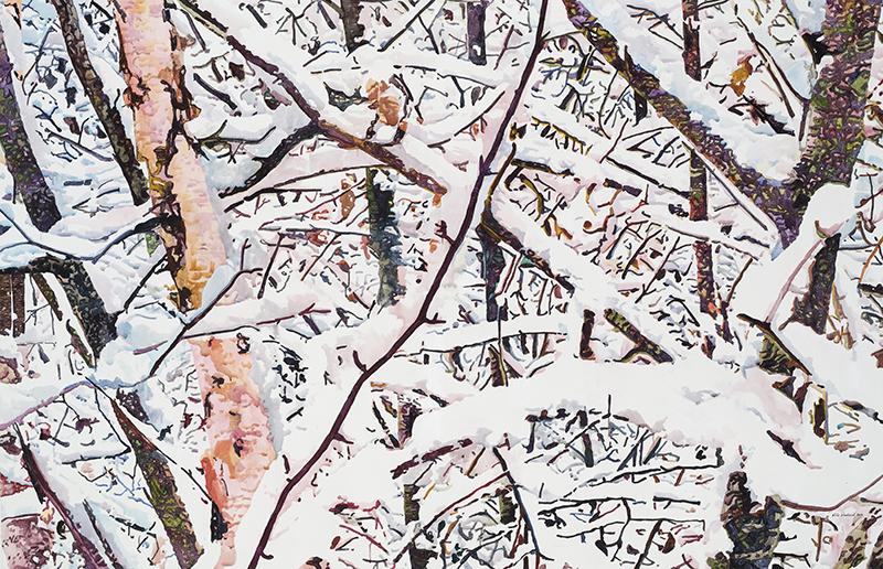 A FEW ACRES OF SNOW,2012  Acrylique sur toile / Acrylic on canvas  137.2 x 213.4 cm / 54'' x 84''  USD $16,415 (avec encadrement / framed)