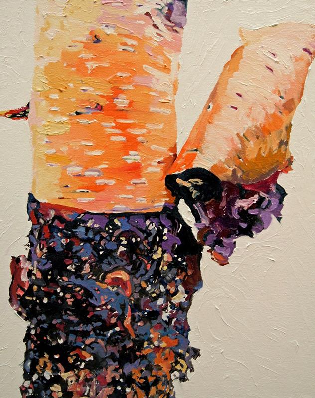 TWO-MILE TREE,2013  Huile sur toile / Oil on canvas  50.8 x 40.6 cm / 20'' x 16''  USD $2,885 (avec encadrement / framed)