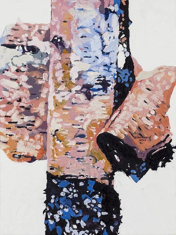 LITTLE BIRCH PORTRAIT #7,2013  Huile sur toile / Oil on canvas  30.5 x 22.9 cm / 12'' x 9''  USD $1,560 (avec encadrement / framed)