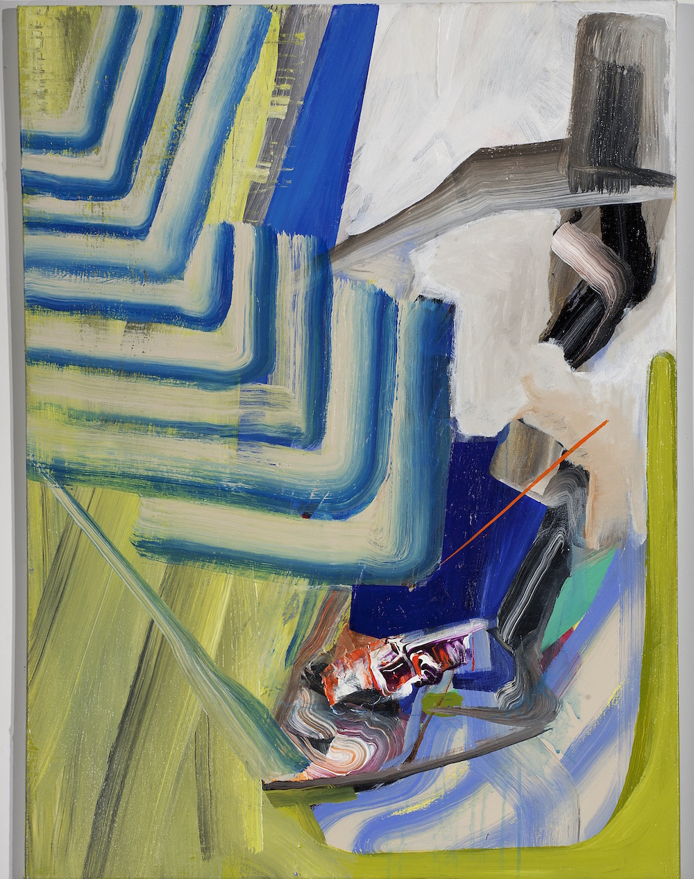 "MATTHEW CHOBERKA, Encroachment, 2012 Acrylique sur toile / Acrylic on canvas - 101.6 x 76.2 cm / 40"" by 30"" USD $2,950 (avec encadrement / framed)"