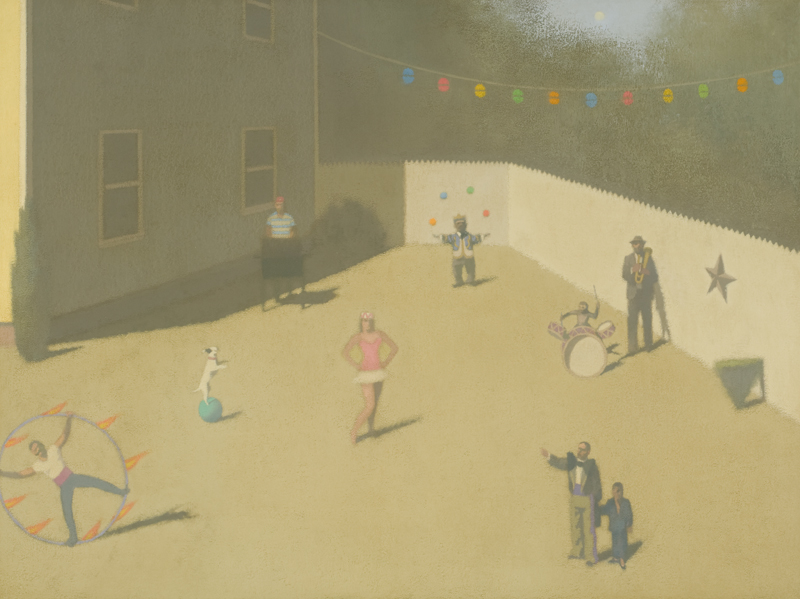 "CRAIG HOOD, Sunny Day, 2008  Huile sur toile de lin / Oil on linen  76.2 × 101.6 cm / 30"" × 40""  USD $5,750 (avec encadrement / framed)"