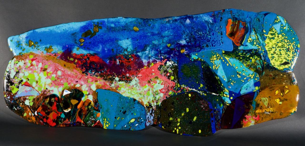 BARRY GEALT (a collaboration with Frank Kelly) Corea Maine, Looking East 2017 Panneaux de vitre / glass panels - 48.26 x 76. 2 cm / 19″ x 30″ USD $4,655  (sans encadrement / unframed)