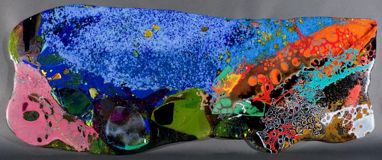 BARRY GEALT (a collaboration with Frank Kelly) Corea Maine, Schoodic Point 2017 Panneaux de vitre / glass panels - 48.26 x 76. 2 cm / 19″ x 30″ USD $4,655 (sans encadrement / unframed)