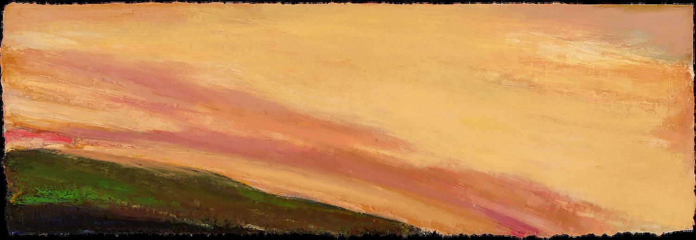 OCTOBER SKY, TUESDAY, 2017 Huile sur panneau / oil on panel – 53.34 x 183.88 cm / 24 ″ x 72″ USD $12,480 (avec encadrement / framed)