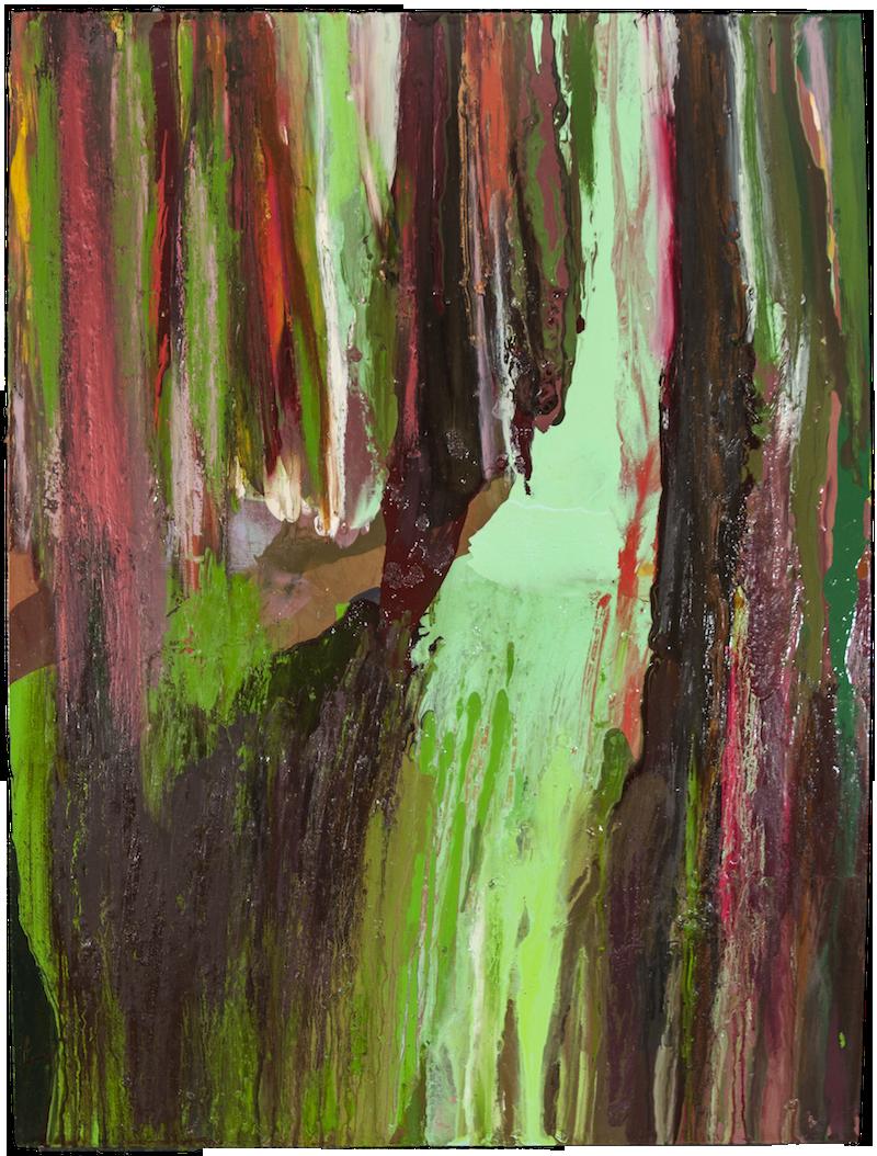 THE WOODS, MID EVENING, MAY 12TH, 2017, Huile sur panneau / oil on panel – 101.6 x 76.2 cm / 40 ″ x 30″ USD $6.650 (avec encadrement / framed)