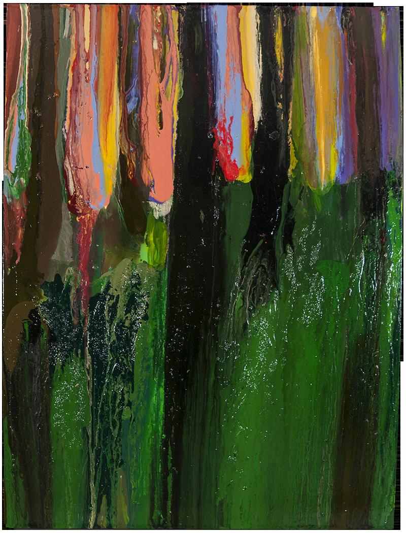 THE WOODS, LATE EVENING, MAY 15TH, 2017, Huile sur panneau / oil on panel – 101.6 x 76.2 cm / 40 ″ x 30″ USD $6.650 (avec encadrement / framed)