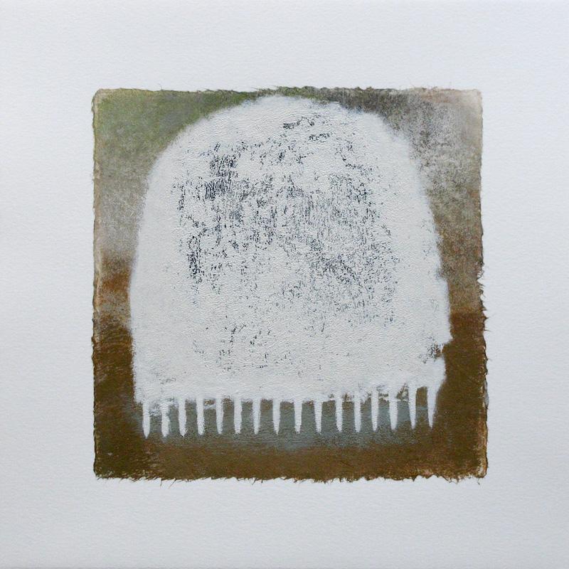 SUITE NORDIQUE #9, 2017, Acrylique sur papier japonais chine-collé sur papier Somerset / acrylic on japanese paper chine-collé on Somerset paper, 26.7 x 26.7 cm / 10.5 ″ x 10.5 ″, CAD $735 (sans encadrement / unframed)  CAD $830 (avec encadrement / framed)