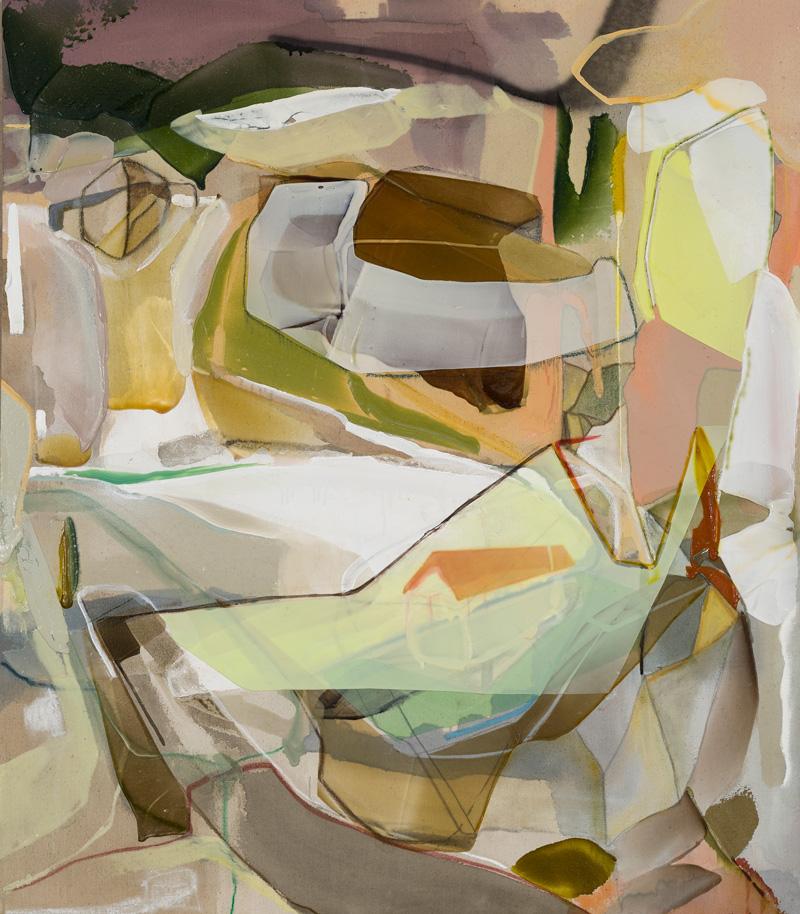 """BAIE DE L'OURS, 2013, Acrylique sur toile / Acrylic on canvas, 116.84 x 101.6 cm / 46"""" x 40"""" CAD $5,895 (avec encadrement / framed)"""