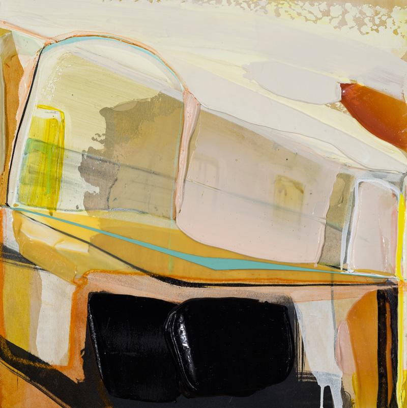"""MUSS ES SEIN ES MUSS SEIN, 2015, Acrylique et crayons de couleur sur panneau / Acrylic and crayons on panel, 45.72 x 45.72 cm / 18"""" x 18"""",  CAD $1,980 (sans encadrement / unframed)"""