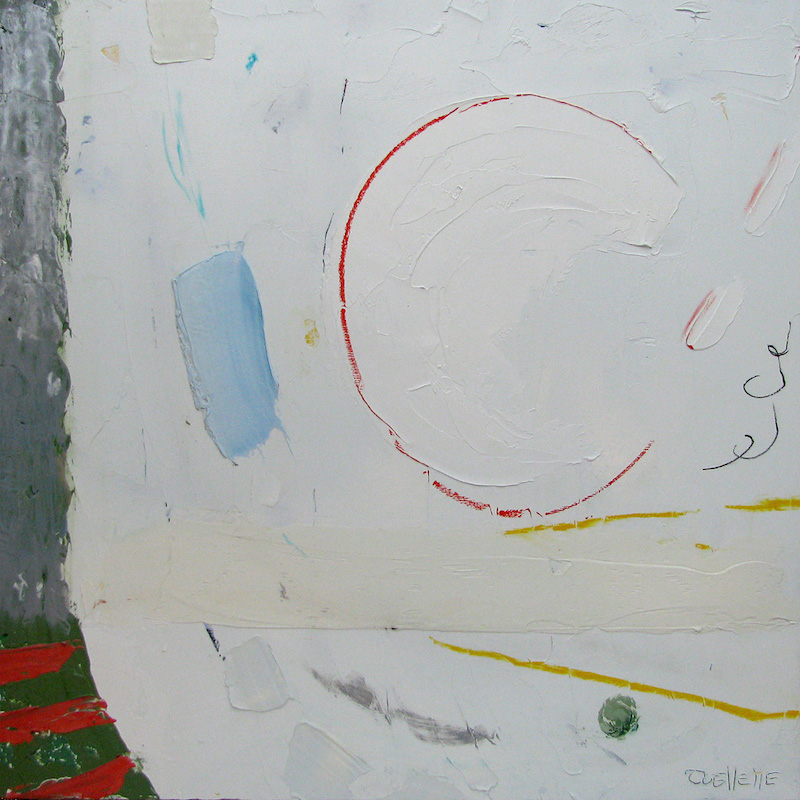 """JOHANNE OUELLETTE, Toujours plus haut, 2017, Huile sur panneau / oil on panel - 50.8 x 50.8cm / 20"""" x 20"""" CAD $1,440 (sans encadrement / unframed)"""
